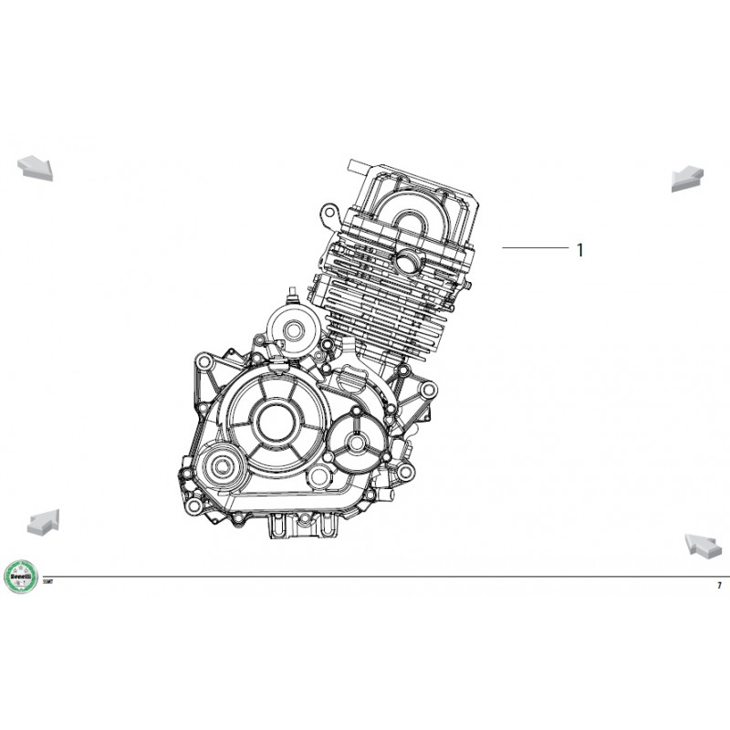 COMPLETE ENGINE Benelli BN 125