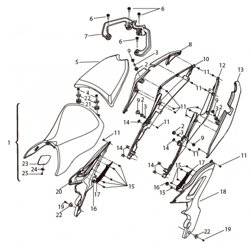 TAIL GUARD Benelli BN 251 ABS