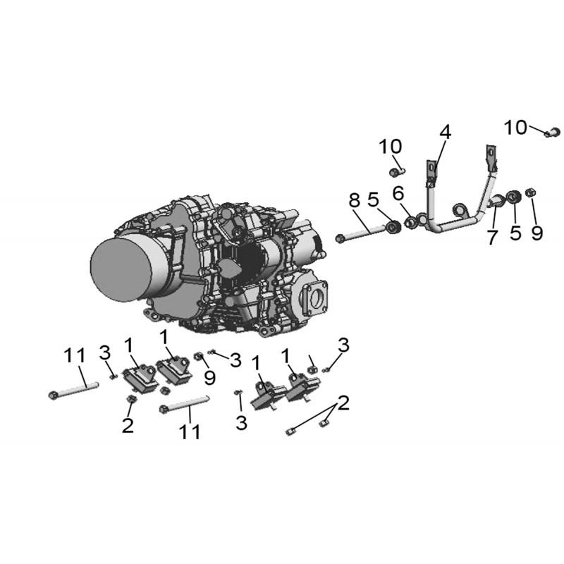 ENGINE Bracket Linhai LH 500 ATV-D